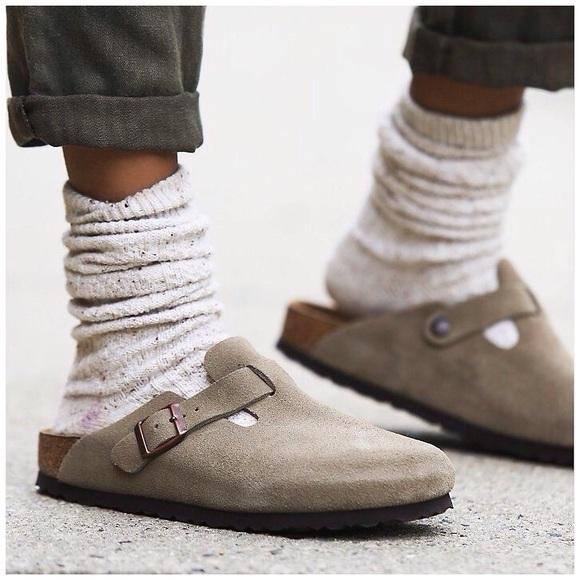 492348c2a9bb Birkenstock Shoes - Birkenstock Boston Leather Mule Clogs
